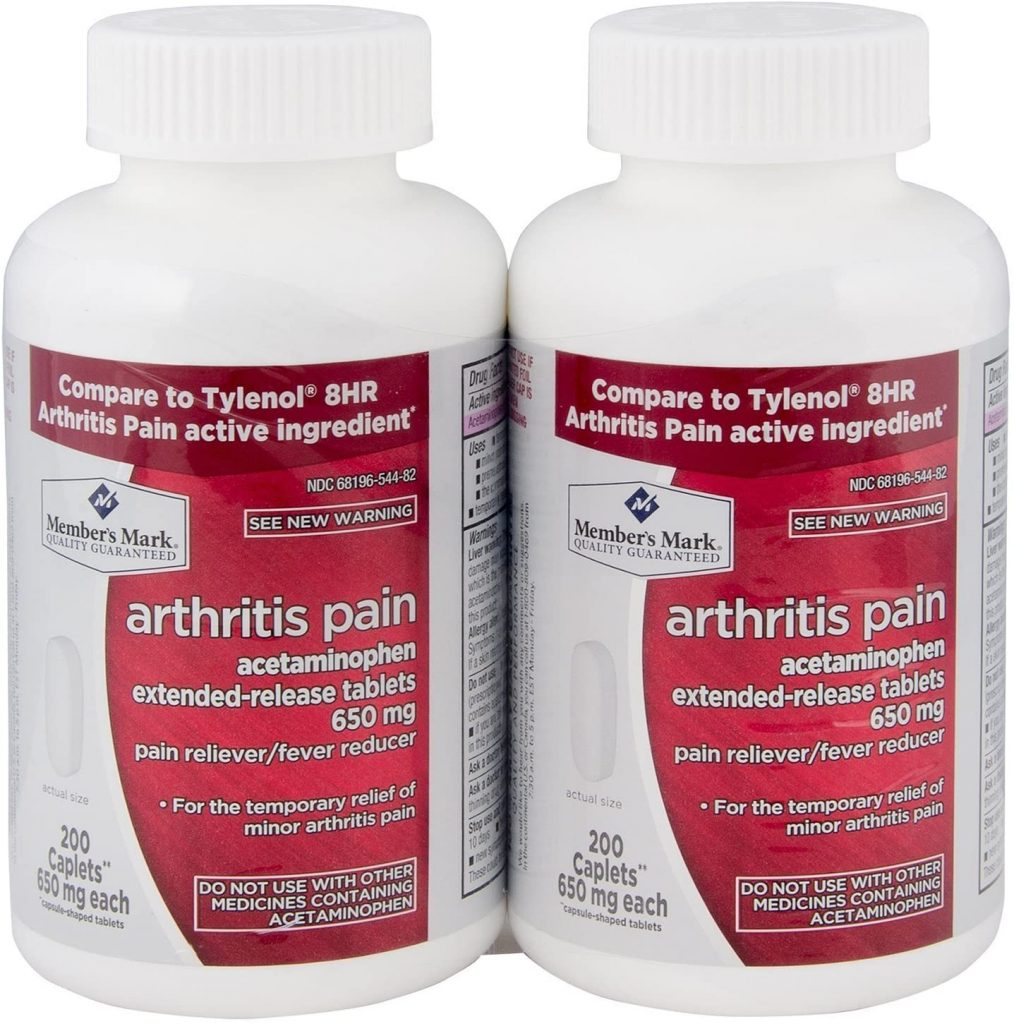 Acetaminophen Extended-Release Tablets For Arthritis Pain