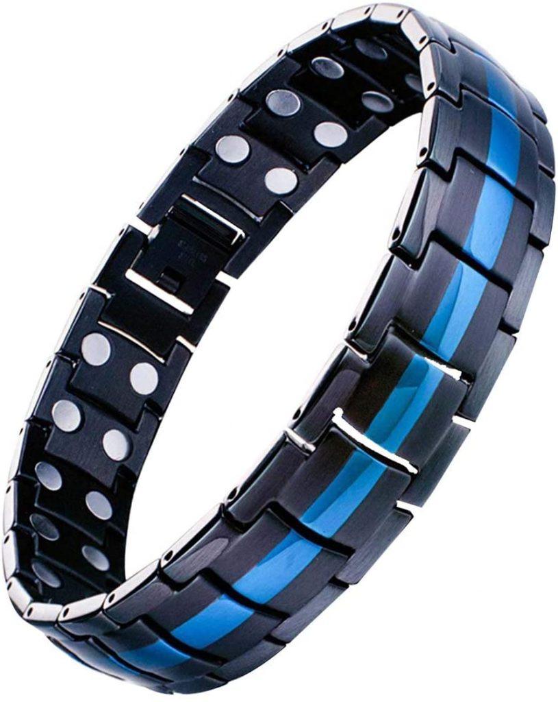 Magnetic Bracelets for Men Pain Relief Titanium Steel Double Row Strong Magnets Bracelet